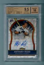 ANTHONY RIZZO 2011 FINEST RC X-FRACTOR AUTO /299 BGS 9.5 GEM MINT 10 AUTO