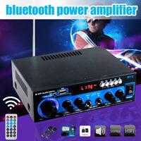 AK-660 1000W 2CH bluetooth Home Stereo Power Amplifier Hi-Fi Audio Amp FM SD USB