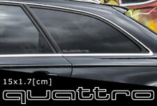 2x AUDI Quattro Outer Line Car Doors Window Sticker Decal Aufkleber 15 x 1.7[cm]