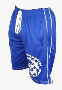 Body building board shorts muscle ,fitness blue fast delivery