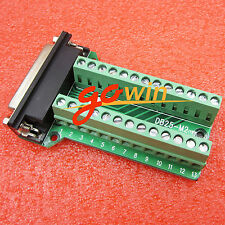 Terminals D-Sub Connector Db25 Female 25Pin Plug Breakout Pcb Board