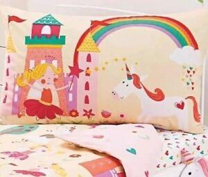 Fairytale Unicorn Princess Fairy Single Bed Duvet Quilt Cover Set Fairy Tale NEW