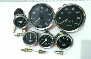 Smiths-52mm-Kit- Temp-Oil psi Fuel Amp km/h Speedometer Tachometer-Replica B/C