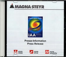 Presse CD Magna Steyr IAA 2003 press release D GB Auto Pkw Lkw Teile-Zulieferer