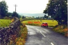 PHOTO  YORKSHIRE THE B6270 EAST OF MUKER IN 1987 MY RED RENAULT 4GTL IS PARKED I