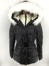 Women Ladies New Short Warm Padded FAUX FUR Belt Hood Puffer Coat/Jacket 7012