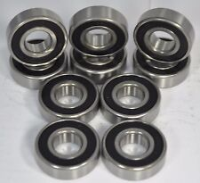 """6202-10-2RS  6202-5/8-2RS  Premium Sealed Ball Bearing,  5/8"""" Bore (Qty. 10)"""