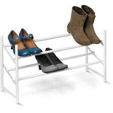 Honey-Can-Do 2-Tier Expandable Shoe Rack, White W