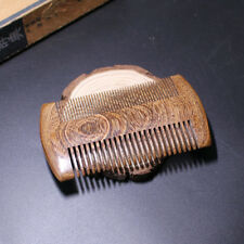Natural Green Sandalwood Wide toothed Hair&Beard Comb Handmade Pocket Comb 1X