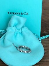 Tiffany & Co Paloma Picasso 0.09 TCW Diamond 18K White Gold Band Ring Size 6.5