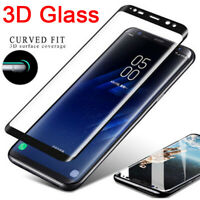 3D Curved Full Cover Tempered Glass Screen Protector For Samsung S9 S8+ Plus