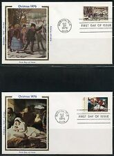 UNITED STATES COLORANO 1976  CHRISTMAS SET OF TWO  FIRST DAY COVERS