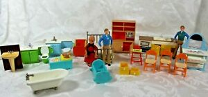 TOMY DOLLHOUSE FURNITURE Mixed Lot - Some Vintage