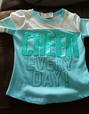 "Girl's Justice embellished ""cheer every day"" top Sz 5 NWT"