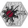 Lettland euro Silbermünze 2016, Latvia Silver Christmas Battles