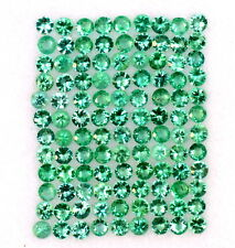 1.56 Cts Natural Emerald Round Diamond Cut 1.50 mm Lot 100 Pcs Loose Gemstones