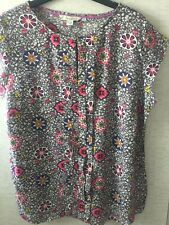 Boden Pleat Front Summer Top Size 14 Ex Con