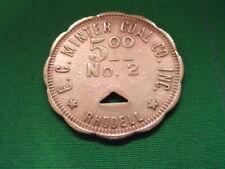 WV Coal Scrip Token $5.00 E.C. Minter Coal Copany-No.2-Rhodell-WV-Raleigh County