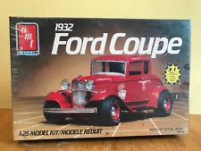 Vintage AMT 1/25 Scale 1932 Ford Coupe, Sealed! Build Stock, Custom, or Drag!