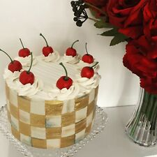 mackenzie childs Fake Inspired Courtley Check Cake