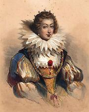 Élisabeth de France Reine Espagne Isabel Borbón Reina Consorte España Devéria