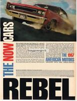 1967 AMC American Motors Rebel Automobile Car Vtg Print Ad