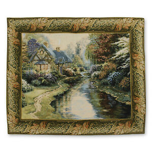 """Serenity I Art Wall Hanging Vintage Tapestry 43""""x36"""""""