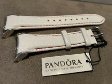 Pandora Imagine Grand Watch Strap White Leather Band SilverSteel Buckle 881013WH
