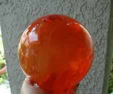 "Vintage approx. 6"" diameter, glass fishing float...unusual red/orange color"