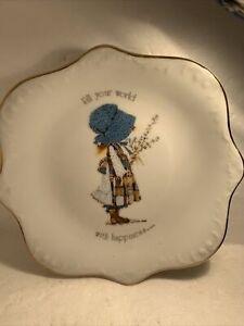 HOLLY HOBBIE Vintage 1960's Trinket Dish Plate.
