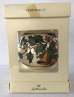 "Vintage Hallmark Keepsake Ornament 1978 Christmas Satin Ball ""Christmas Is"""