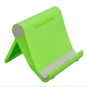 Universal Foldable Cell Phone Desk Stand Holder Mount Cradle For Phone Tablet >
