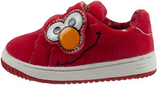 Sesame Street Elmo and Cookie Monster Baby Shoes with Strap, Hard Bottom, Infant