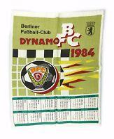 #e7158 Alter Stoff Kalender Berliner Fußball-Club BFC Dynamo 1984 DDR