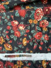 """Vintage 1990s Corduroy Fabric - Unused - 3 Yards and 62"""" Wide - Autumn Floral"""