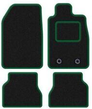 SKODA OCTAVIA MK3 2013 ON - Tailored Carpet Car Floor BLACK MATS GREEN EDGING