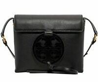 NWT TORY BURCH Miller CrossBody Classic Leather Logo Shoulder Black Purse 50769
