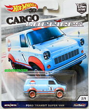 HOT WHEELS 2018 CAR CULTURE CARGO CARRIERS FORD TRANSIT SUPER VAN GULF #2/5