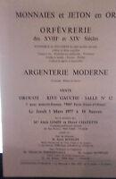 1977 Drouot Rive Izquierdo Baño N º 12 Monedas y Fichas Oro Orfebrería XVIII XIX