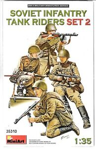 Master Box WWII Soviet Infantry Tank Riders Set 2, Figures in 1/35 310 ST DO B6