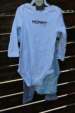 Kids Girls Baby Boys 100% Cotton Carter's Mum Dad's Rockstar Romper 3sets 24mths