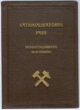 Old East German RAR Rationalistoren Pass Bergbau Braunkohlewerk Senftenberg