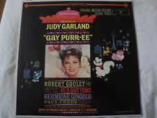 ORIGINAL SOUND TRACK THE VOICE OF JUDY GARLAND GAY PURR-EE VINYL LP 1962 WB EX
