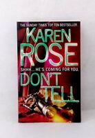 Don't Tell by Karen Rose used paperback thriller bestseller crime missing person