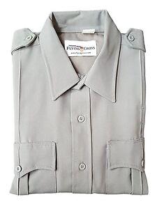 Flying Cross 95R6621 Deluxe Tropical Short Sleeve Uniform Shirt, Grey 2XL