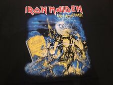Iron Maiden Live After Death Official Fan Club Shirt with BackPrint LARGE