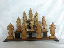 Hindu God Vishnu Ten Avatar Sculpture Dashavatara Wooden Temple Statue Idol Rare