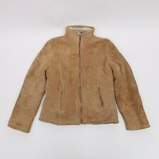 WINLIT NEW YORK SUEDE LEATHER JACKET ZIP UP CUFF WOMEN'S SIZE M