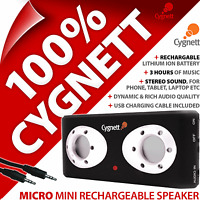 Cygnett Micro Mini Rechargeable MP3 Player Portable Speaker for iPhone 4 4S 5S 6