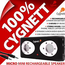 NUEVO Cygnett Micro Mini Recargable MP3 Jugador Altavoz Portátil Para iPhone